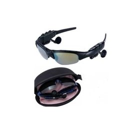Wholesale Glass For Vehicles - Driving Sun Glasses Bluetooth 4.1 Stereo Headset Sunglasses Wireless Handsfree With Mic and Music For Apple Samsung Any Mobile Phone
