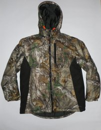 Wholesale Realtree Camo Clothes - Fall-Bionic Realtree Mens Camo Jacket Outdoor Tactical Hunting Camouflage Clothes Winter Outwear