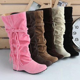 Wholesale Sexy Beige Platform Heels - Hot 2016 Fashion newest Free shipping Shoes women boots autumn and winter snow boots ladies sexy Knee high boot big size 34-43