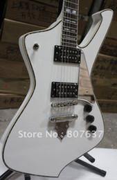 Rare Guitare Blanc ICEMAN Paul Stanley Signature Guitare Électrique Abalone Body Binding Flamme en forme de Cordier Abalone Blanc MOP Inlay ? partir de fabricateur