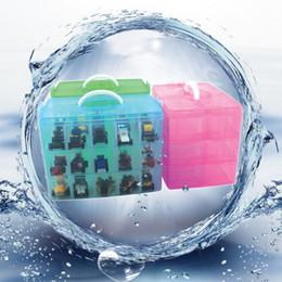 Wholesale Storage Box 15 - Plastic Storage Box Waterproof Square Three Layers Organizer Multi Function Mini Toys Jewelry Case Top Quality 11 5pt B R