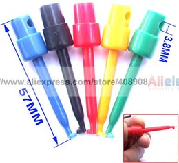 100PCS high quality 5 colors Grabbers Probes IC SMT Test Hook Cable DIY