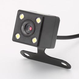Зеркало gps dvr камера онлайн-GPS 4 Светодиодные Лампы Обратного Камеры Ночного Видения HD CDD Вид сзади Объектив Камара 2,5 мм Джек с 6-метровым Кабелем для Автомобильных Видеорегистраторов Зеркало