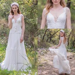 Бисером кисточкой старинные 1920-х годов богемной кружева свадебные платья 2018 спинки кружева топ полная юбка элегантный страна свадебное платье от