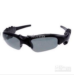 Wholesale Sunglasses Mp3 Player 4gb - New 2GB 4G Black Fashionable Headset Sunglasses Sun Glasses WMA Sports MP3 Player