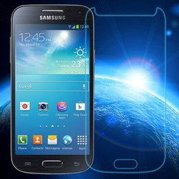Wholesale Galaxy S4 Border - Wholesale-0.3mm Tempered Glass for Samsung Galaxy S4 Mini i9192 i9195 9H Hard 2.5D Arc Edge Round Border Front Screen Protector