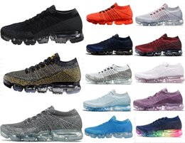 Wholesale Silver Ivory Shoes - 2018 New Vapormax Mens casual Shoes For Men Sneakers Women Fashion Athletic Sport Shoe Hot Corss Hiking Jogging Walking Black Blue Red Shoes