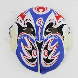 Wholesale Masks Art - Wholesale-1pcs Hand Painted Chinese Art Culture Peking Opera Styles Mask Paper Pulp