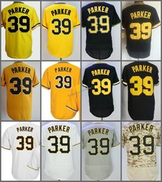Wholesale Dave Parker - 2018 Flexbase #39 Dave Parker Home Away Jersey Yellow Grey Cream White Black Camo Pullover Cool Base Stitched