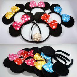 Wholesale Mice Ears Headband - New kids cartoon mouse headband Cute Mouse Ear Hair Band party decorative Headbands fashion Women Hair Accessories