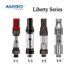 Wholesale V5 Pens - Atomizer AMIGO Liberty Tank CE3 Cartridges V1 V3 V5 V7 V9 Vaporizer Pen Cartridges Atomizer VS Liberty V6 V8 G2 100% Original