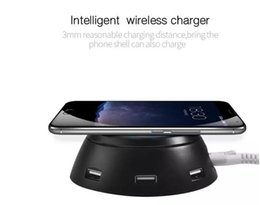2019 pad de chargement sans fil 5v Pour Iphone 8 X 6 ports USB QI sans fil Chargeur pour iPhone 8 X Samsung Galaxy S6 S7 S8 Plus LED Lumière 5 V / 3.1 A rapide Charging Pad pad de chargement sans fil 5v pas cher