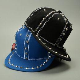 Wholesale Snapback Era - new fashion era snapback baseball caps men and women Hip-hop baseball caps rivet Korea sports baseball hat
