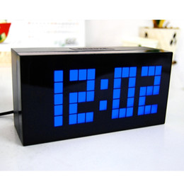 Wholesale Original Decor - Big Font LED Clock Original Classical Snooze Alarm Clock Home Decor Led Display Table Clock Indoor Electronic Digital Clock(3pcs)