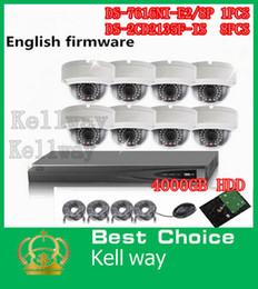 Wholesale Hikvision 3mp Ip Camera - English Vesion Hikvision Kit 16CH NVR DS-7616NI-e2 8P POE NVR 8 Ports PoE with 8pcs 3MP IP Camera DS-2CD3132-I 4TB hard drive