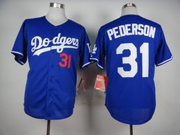 Wholesale Cheap Baseball Uniform - Blue Dodgers #31 Joc Pederson Baseball Jerseys Hot Sale Baseball Wear Discount Cheap Sports Shirt Best Quality Baseball Uniforms for Men