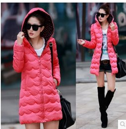 Wholesale Ladies Quilted Jacket - Wholesale-2015 new Korean ladies quilted jacket ladies big yards long section thick winter coat size L   XL   XXL free shipping