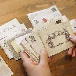 Wholesale Vintage Kraft Envelopes - Wholesale- 60 pcs set Vintage Small Mini Kraft Paper Window Envelopes wedding invitation envelope gift envelope Ancien 73*95mm