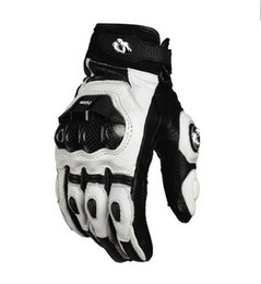 Wholesale White Black Motorcycle Gloves - 2015 models France Furygan AFS 6 10 top racing gloves motorcycle gloves leather gloves with carbon fiber black white size M L XL