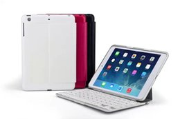 Wholesale Case Keyboard Ipad Alloy - tablet PC cases with bluetooth 3.0 keyboard for iPad Air Aluminum alloy cover with backgroud light F5S