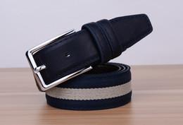 Wholesale Metal Pin Buckle Belt - Canvas pin buckle belt military belt Luxury Belts Women Men Belts Male Waist Strap Faux Cowskin Leather Alloy Buckle Belt