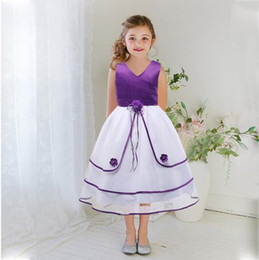 Wholesale Wholesaler For Teen Dresses - Flower Girls Dress Tulle Wedding Dresses for Teen Girls Fluffy Evening Gown Summer Elegant Net Yarn Patchwork Childrens Girl Clothing