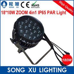 Wholesale Led Zoom Rgbw - Wholesale-6pcs lot ZOOM Function 18*10W LED RGBW 4in1 IP65 Waterproof Par Light Stage Par Cans SX-PL1810Z