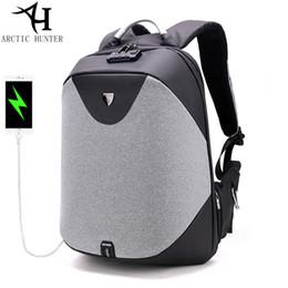 Wholesale Waterproof Business Backpack - ARCTIC HUNTER Anti-theft zipper Password Lock Backpacks Waterproof Bag Men Business Travel 15.6 inch Laptop Backpack Female