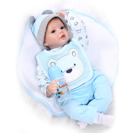 """Wholesale Dolls Reborn - Wholesale- Hot 22"""" 55cm Silicone Baby Doll Soft Reborn Doll Magnetic Lovely Lifelike Cute Toy for Kids Sleeping Doll"""