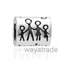 Wholesale Family Fit - New! Wholesale Family Engrave On Charm 925 Silver European Charm Bead Fit Bracelets Snake Chain Fashion DIY Jewelry