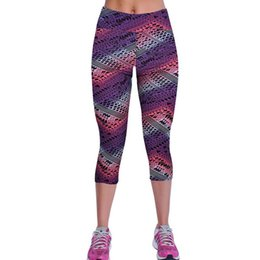 Wholesale Pants 12 Stretch - Floral Printing Capris Leggings High Waist Stretched Clothes Spandex Quick-Drying Womens Leggings Fitness Pants 12 Colors