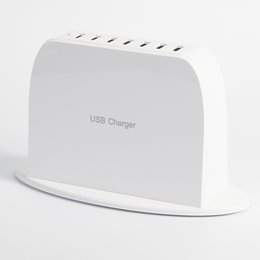 Wholesale Sumsang S4 - Universal 7 Ports USB Charger US Plug Home AC Power Adapter Smart Wall Chargers For iPhone iPad Sumsang Galaxy S4 S5 Note 3 4 Tab 7 10.1