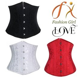 Wholesale 24 Bone Corset - Wholesale-S-XXL Plus Size waist training corsets Burovuge corset for women sexy corset and bustiers 24 steel bone dobby corselet