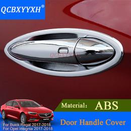 Wholesale trimmer bowl - QCBXYYXH For Buick Regal Opel Insignia 2017 2018 Exterior Door Handle Decorative Cover Trim Door knob Bowl Decal Strip Sequin
