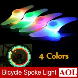 Wholesale Wholesale Car Alarms - Hot Bike Bicycle LED Lights Motorcycle Electric car Wheels Spokes Lamp Silicone 4 colors flash alarm light cycle accessories Free Shipping