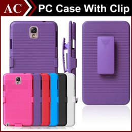 Wholesale Galaxy S3 Hard Cover - Silm Armor Impact Hybrid Hard PC Case + Belt Clip Holster Kickstand Combo Cover For iPhone 5 5S 6 Plus Galaxy S3 S4 S5 S6 S6 Edge Note 3 4