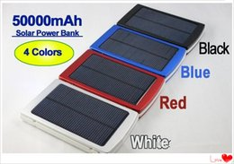 Wholesale Free Solar Charger - Wholesale - full capacity power bank 50000mah Emergency   Portable+high capacity 50000 mah solar charger free shipping fast home delivery