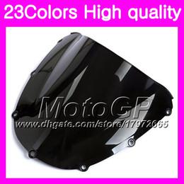 Wholesale Honda Cbr 954 Rr - 23Colors Windscreen For HONDA CBR954RR 02 03 CBR900RR CBR 954 RR 900RR CBR954 RR 2002 2003 Chrome Black GPear Smoke Windshield