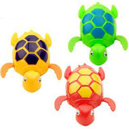 Wholesale Turtle Pool Baby - New Wind up Swimming Funny Turtle Turtles Pool Animal Toys For Baby Kids Bath Time C204 Free Shipping