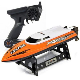 Wholesale Electric Boat Remote Control - 2.4GHz Wireless Remote Control High Speed Racing RC Boat 25km h