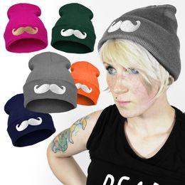 Wholesale Woolly Hats Cap Wholesalers - Wholesale-MUSTACHE COMMES HAT WOOLLY BEANIE TSHIRT SNAP BACK CAP