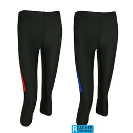 Wholesale Excercise Woman - Wholesale-2014 women ladies 3 4 compression tights base layer skins running run Fitness yoga Excercise cycling Clothing pants