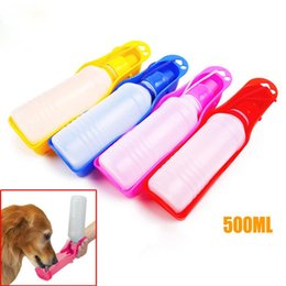 Wholesale Hanging Dog Automatic Feeders - 500ML Hot Portable Pet Cat Dog Feeding Bottle Water Drinking Outdoor Travelling Muticolor hanging supplies soft mouth bottles