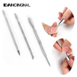 Set di strumenti per pedicure manicure con pusher remover per pedicure in acciaio inox da