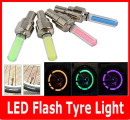 Wholesale Flash Color Wheel - New 2PCS lot LED Flash Tyre light Flashing different color LED Wheel Light For Auto Car Motorcycle Bike Bicycle Cycling Tyre.