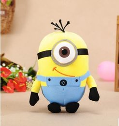Wholesale Despicable Movie Plush Toy - 2017 Monocular yellow plush toys God steal dads despicable me yellow Grab machine doll plush toys