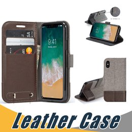 Wholesale iphone flip leather - Leather Case For iPhone X with Wallet Card Slot Flip Stand Case Cover For iPhone 8 7 6 6s Plus 5 SE S8 Plus S7 Edge