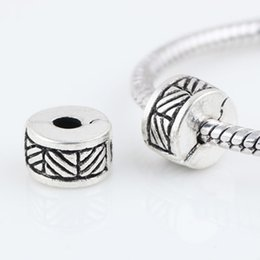Wholesale Chamilia Bead Wholesale - Alloy Beads Spot Round Chamilia DIY beads Stopper beads Spacer Murano Lock Bead Charm Fit For Pandora Bracelet Charms 0305