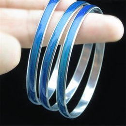 Wholesale Music Gifts For Wedding - New 2015 Brand Mood Bangle Bracelet for women Different Mood Different Color Creative thermal discoloration jewelry