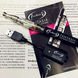 Wholesale Wholesale Rechargeable Hookah Pens - new E-Cig Hookah Starter Kit USB Battery Fantasia Rechargeable Vape Electronic Cigarette Atomizer Pen